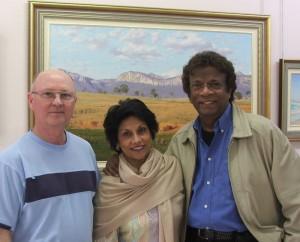 Les with Kamahl and wife Sahodra 2006