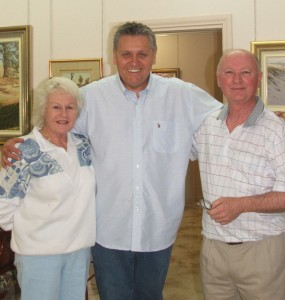Lorraine and Les with Ray Hadley 2008