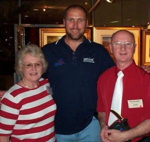 Lorraine and Les with Tony Lockett